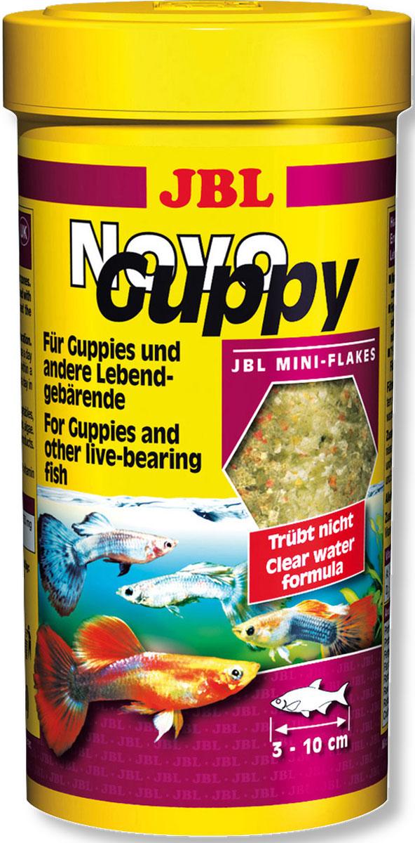 JBL NovoGuppy Основной корм для гуппи и других живородящих, 250 млJBL3017600JBL NovoGuppy - Основной корм для гуппи и других живородящих, 250 мл.