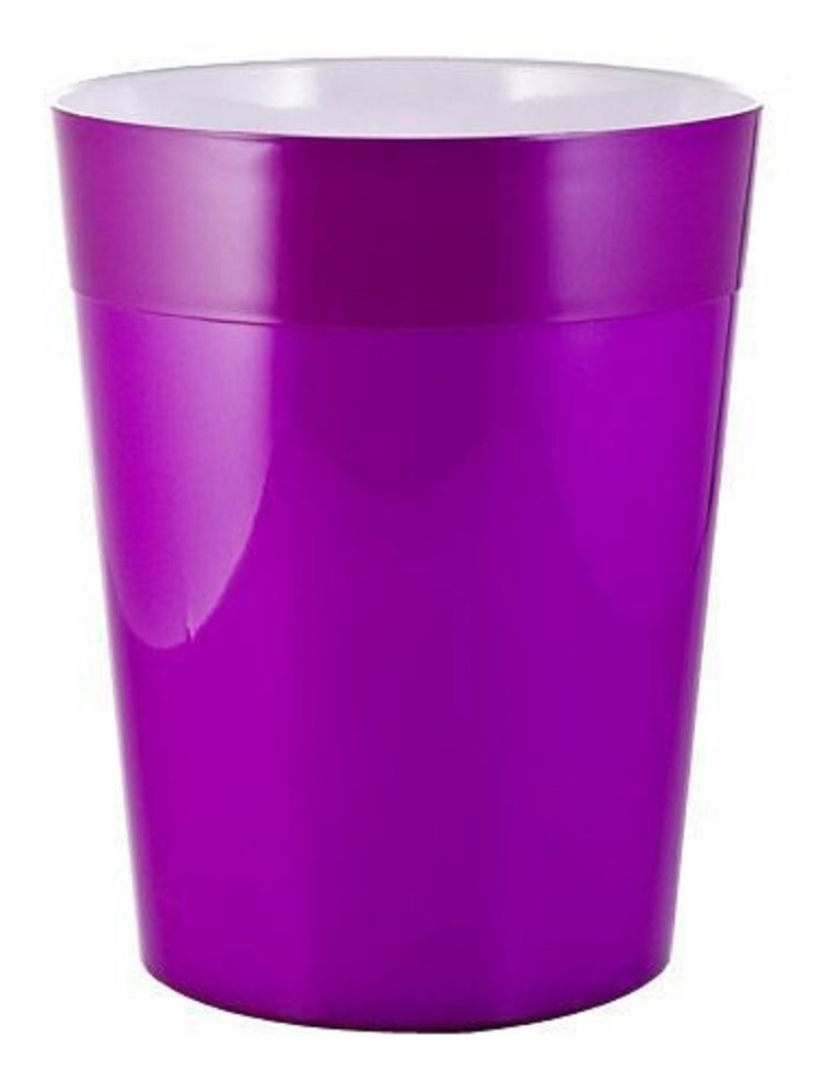 Ведро мусорное Ridder Neon, цвет: фиолетовый, 5 л22020613Высококачественные немецкие аксессуары для ванных комнат. Данная серия изготавливается из акрилового стекла.Изделия серии Neon устойчивы к ультрафиолету и мытью в посудомоечной машине.Объем: 5 л.