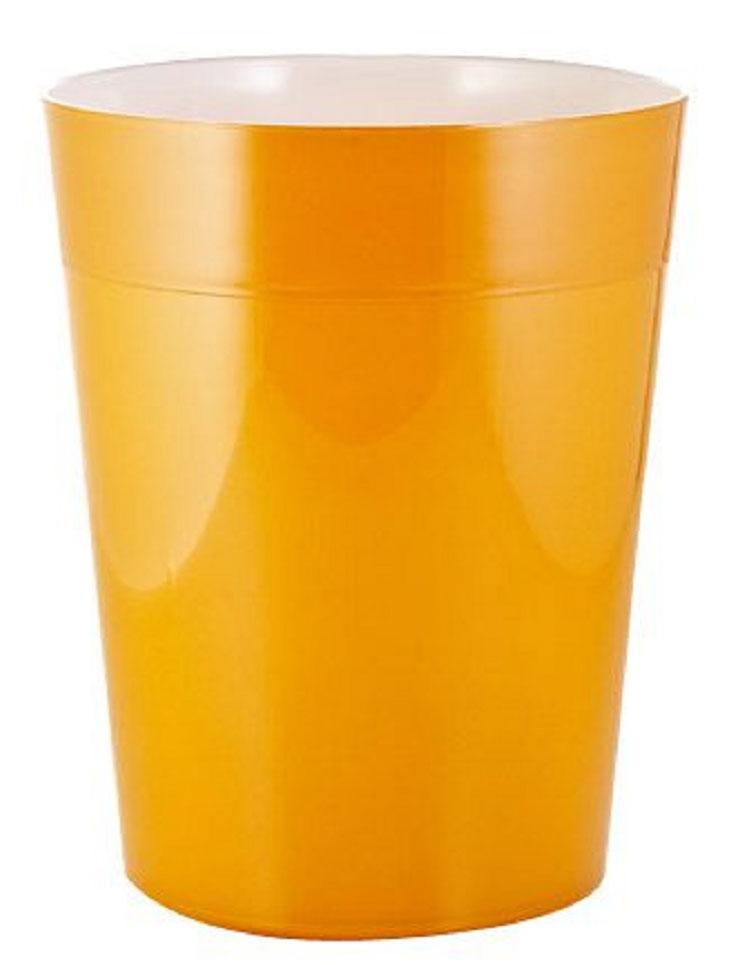 Ведро мусорное Ridder Neon, цвет: оранжевый, 5 л22020614Высококачественные немецкие аксессуары для ванных комнат. Данная серия изготавливается из акрилового стекла.Объем: 5 л.