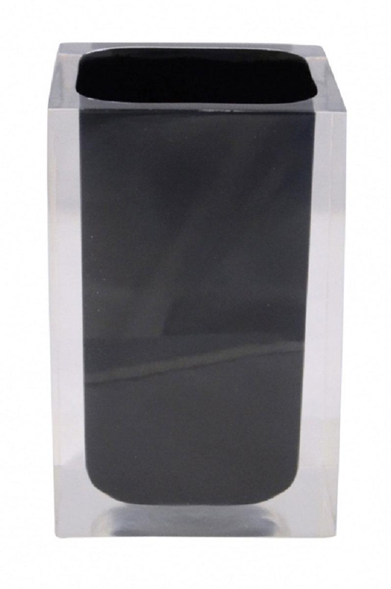 Стакан для ванной комнаты Ridder Colours, цвет: черный22280110Изделия данной серии устойчивы к ультрафиолету, т.к. изготавливаются из полирезина. Экологичный полирезин - это твердый многокомпонентный материал на основе синтетической смолы,с добавлением каменной крошки и красящих пигментов.