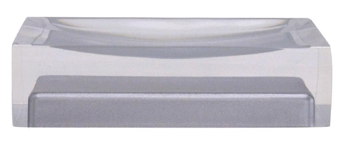 Мыльница Ridder Colours, цвет: серый22280307Изделия данной серии устойчивы к ультрафиолету, т.к. изготавливаются из полирезины. Экологичная полирезина - это твердый многокомпонентный материал на основе синтетической смолы,с добавлением каменной крошки и красящих пигментов.