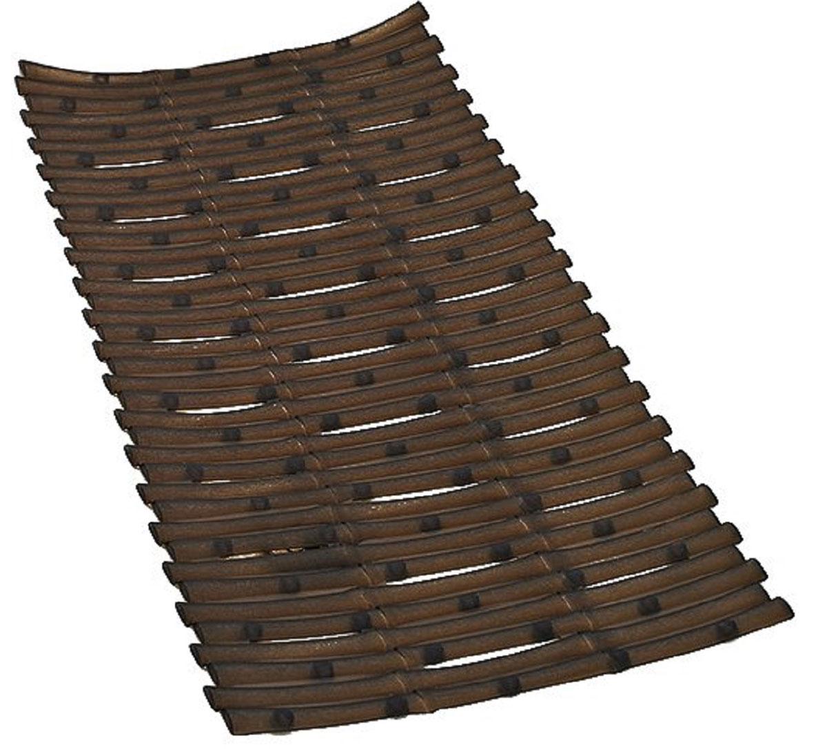 Коврик для ванной Ridder Bambus, противоскользящий, цвет: коричневый, 40 х 81 см babyono коврик противоскользящий для ванной цвет зеленый 55 х 35 см