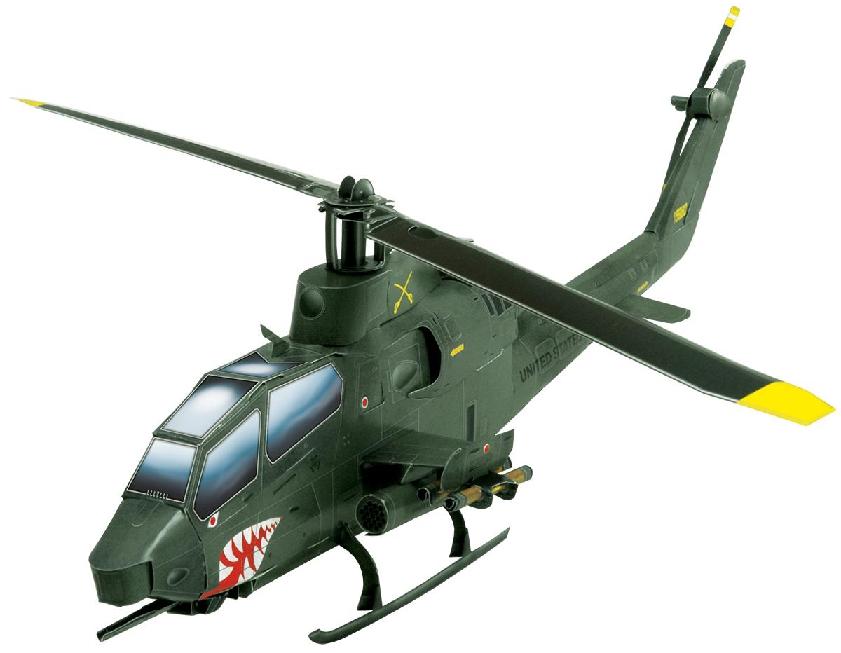 Умная бумага 3D пазл Вертолет Кобра цвет зеленый