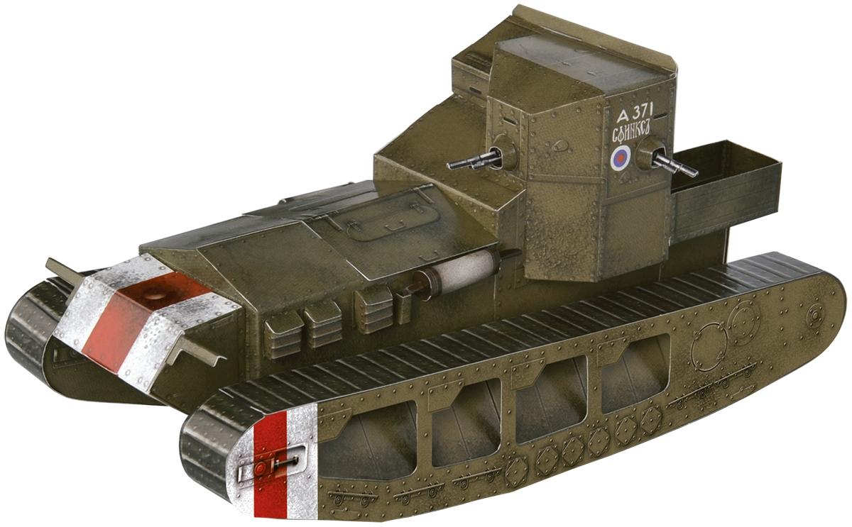 Умная бумага 3D пазл Средний танк Mk A Whippet