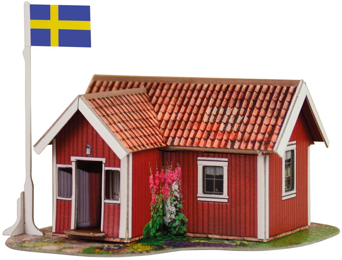 Умная бумага 3D пазл Шведский домик