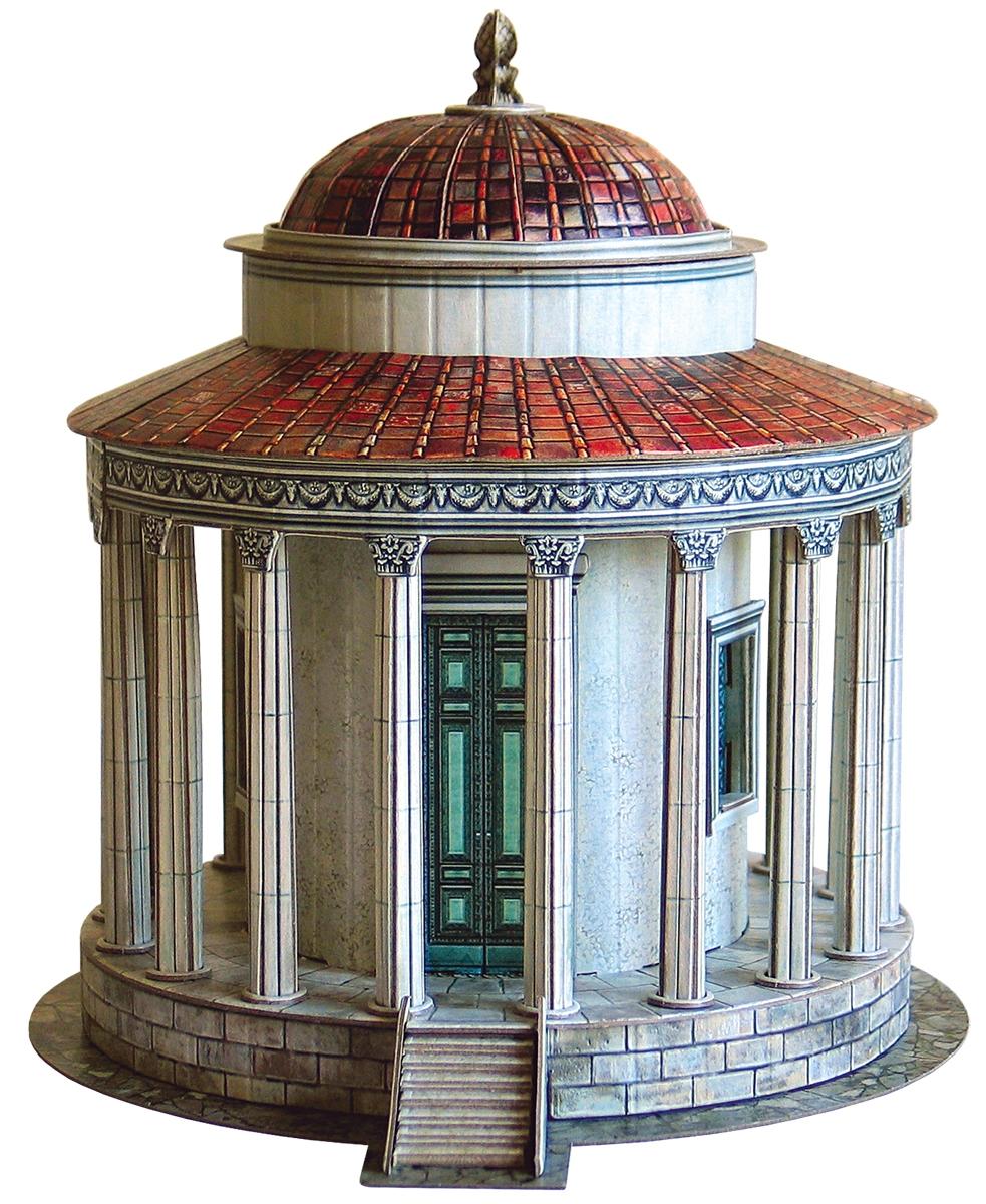 Умная бумага 3D пазл Храм Весты в Тиволи
