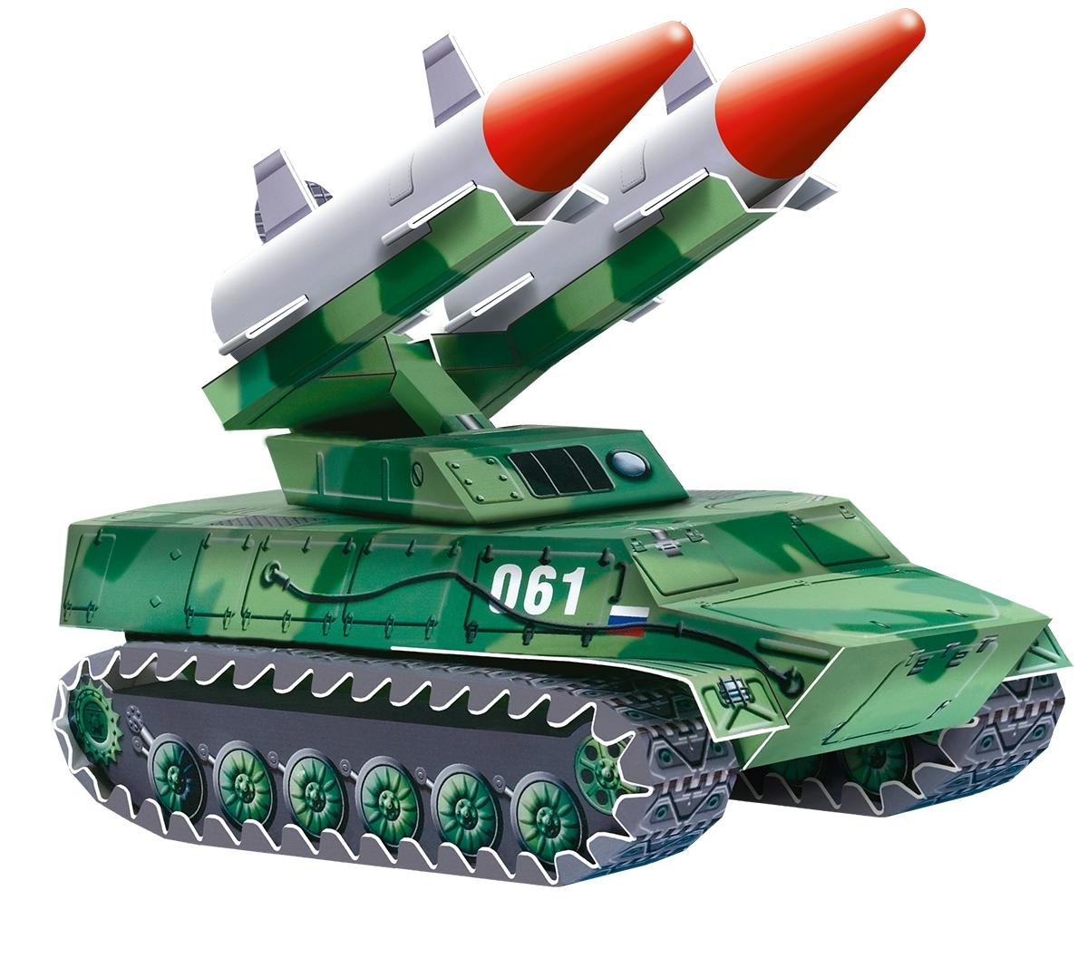 Умная бумага 3D Пазл Зенитно-ракетный комплекс