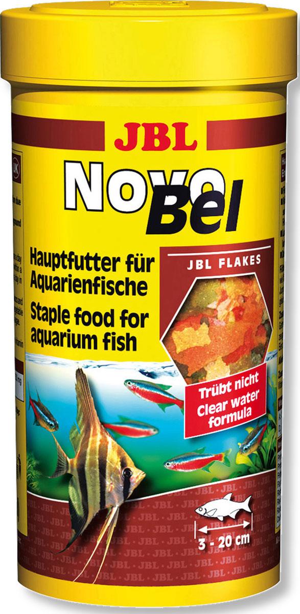 Корм JBL NovoBel для всех аквариумных рыб, в форме хлопьев, 1 л (165 г)JBL3014000Корм JBL NovoBel - это полноценный корм для оптимального роста тропических пресноводных рыб: 50 натуральных ингредиентов в 7 видах хлопьев. Благодаря различным размерам хлопьев корм подходит для всех видов рыб от 3 до 20 см, обитающих в среднем и верхнем слоях воды. Питательный и легко усваивается. Не вызывает помутнения воды, сокращает рост водорослей благодаря правильному содержанию фосфатов, улучшает качество воды, в результате хорошей усвояемости снижается количество экскрементов рыб. Не содержит рыбной муки низкого качества, использована рыба от производства филе для людей.Рекомендации по кормлению: 1-2 раза в день давайте столько, сколько рыбы съедают за несколько минут. Молодых растущих рыб кормите 3-4 раза в день тем же способом. Состав: рыба и рыбные побочные продукты, злаки, моллюски и ракообразные, растительные побочные продукты, овощи, экстракты растительного белка, дрожжи, яйца и продукты из яиц, водоросли. Анализ состава: белок 43%, жир 8,3%, клетчатка 1,9%, зола 8,1%. Добавки: Инозитол 750 mg, Витамин А 25000 I. E., Витамин Е 330 mg, Витамин C (стабильный) 400 mg, Витамин D3 2500 I. E. Товар сертифицирован.