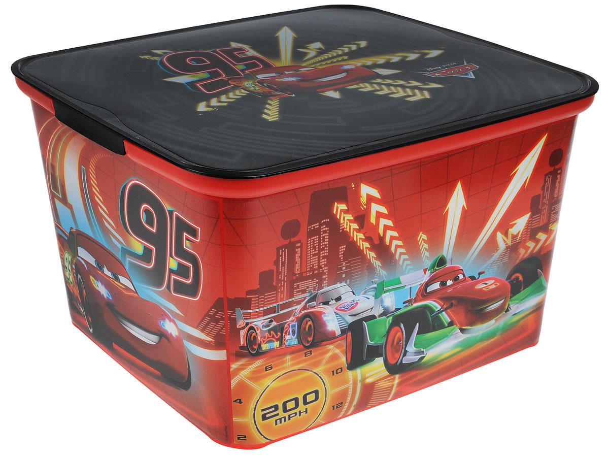 Коробка для хранения Curver Amsterdam L, цвет: красный, черный, 39 х 30 х 24 см4730_Cars neonКоробка для хранения Curver Amsterdam L - это вместительная коробка для игрушек и других мелочей малыша с изображением героев мультфильма Тачки. Коробка поможет организовать иукрасить детскую комнату. Накладываемая крышка прикроет содержимое контейнера и позволит сэкономить место.Размеры коробки: 39 х 30 х 24 см.