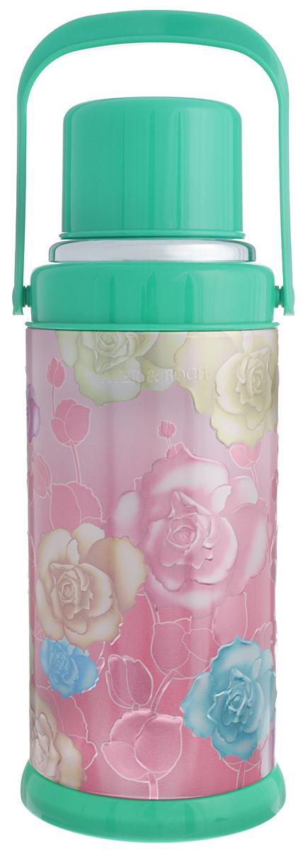 Термос Mayer & Boch, цвет: зеленый, розовый, 3,2 л21870_зеленыйТермос Mayer & Boch изготовлен из алюминия и пластика и снабжен ручкой. Стеклянная изоляционная колба поможет сохранить необходимую температуру напитков. Сверху имеет съемную чашу. Отлично подходит для использования дома, в школе, на природе, в походах и так далее.Высота термоса: 43 см. Диаметр основания термоса: 17 см. Диаметр горлышка термоса: 3 см. Высота кружки: 8. Диаметр кружки: 11 см. Объем термоса: 3,2 л.
