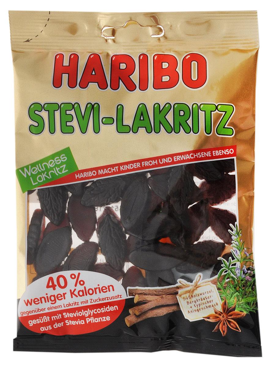 Haribo Лакрица-Стевия жевательные конфеты, 100 г