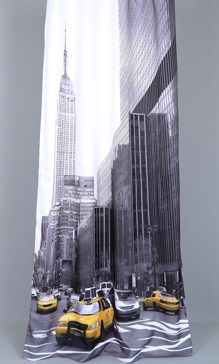 Штора Garden Фотопринт. Бизнес такси, на ленте, высота 260 см штора quelle garden 1013421