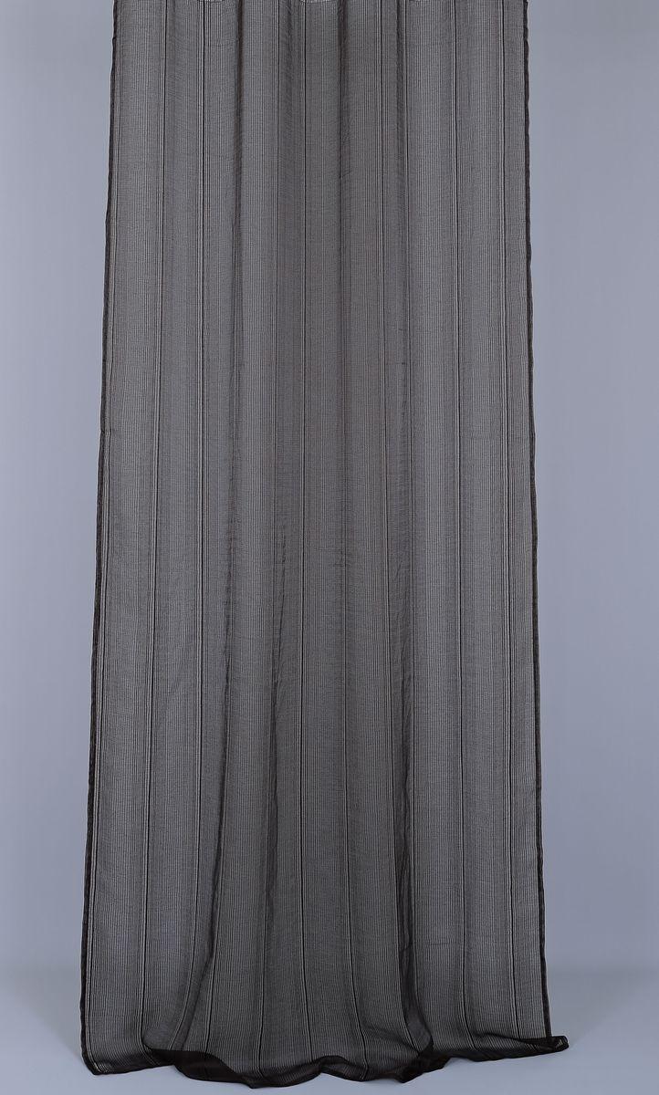 Штора Garden, на ленте, цвет: шоколад, высота 270 см. 5990459904_ЛЕНТАСветонепроницаемая штора Garden выполнена из 100% полиэстера.Степень устойчивости окраса: 3.Штора крепится на карниз при помощи ленты, которая поможет красиво и равномерно задрапировать верх.