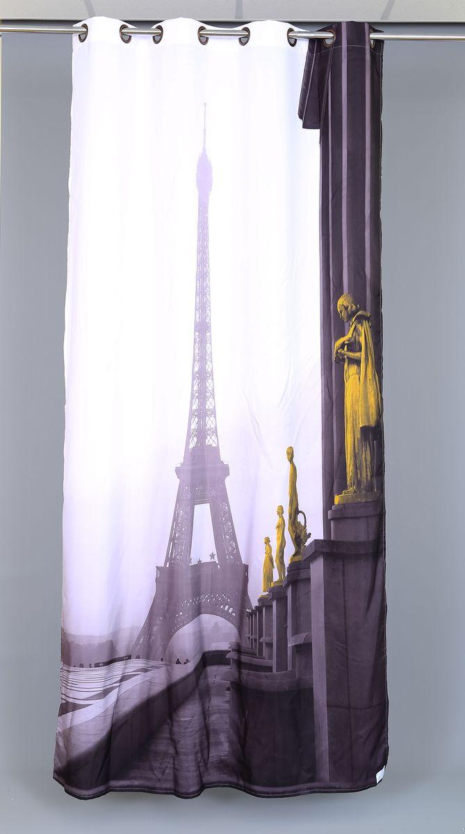 Штора Garden Фотопринт. Париж, на люверсах, высота 260 см53582_ЛЮВЕРСЫРоскошная штора Garden Фотопринт. Париж выполнена из 100% полиэстера и украшена городским принтом.Оригинальная текстура ткани и изящный дизайн привлекут к себе внимание и позволят шторе органично вписаться в интерьер помещения.Эта штора будет долгое время радовать вас и вашу семью!Штора крепится при помощи люверсов. Диаметр люверсов: 4 см.