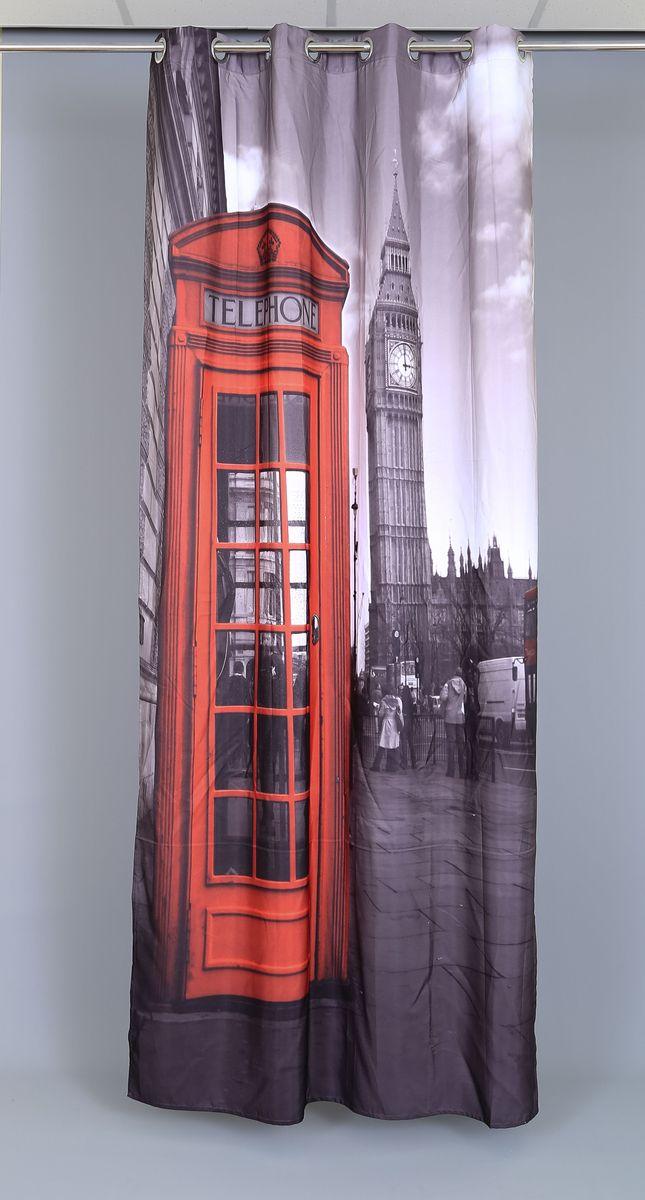 Штора Garden Фотопринт. Лондон лайт, на люверсах, высота 240 см48557_ЛЮВЕРСЫРоскошная штора Garden Фотопринт. Лондон лайт выполнена из 100% полиэстера и украшена городским принтом.Оригинальная текстура ткани и изящный дизайн привлекут к себе внимание и позволят шторе органично вписаться в интерьер помещения.Эта штора будет долгое время радовать вас и вашу семью!Штора крепится при помощи люверсов. Диаметр люверсов: 4 см.