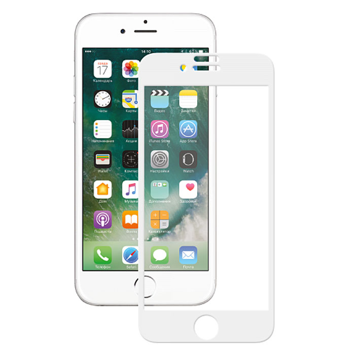 Deppa 3D защитное стекло для Apple iPhone 7 / 8, White - Защитные стекла и пленки