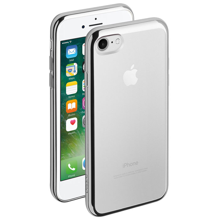 Deppa Gel Plus Case чехол для Apple iPhone 7/8, Silver85254Чехол Deppa Gel Plus Case из TPU производства Bayer предназначен для защиты корпуса смартфона от механических повреждений и царапин в процессе эксплуатации. Имеется свободный доступ ко всем разъемам и кнопкам устройства.Толщина: 0.9 мм