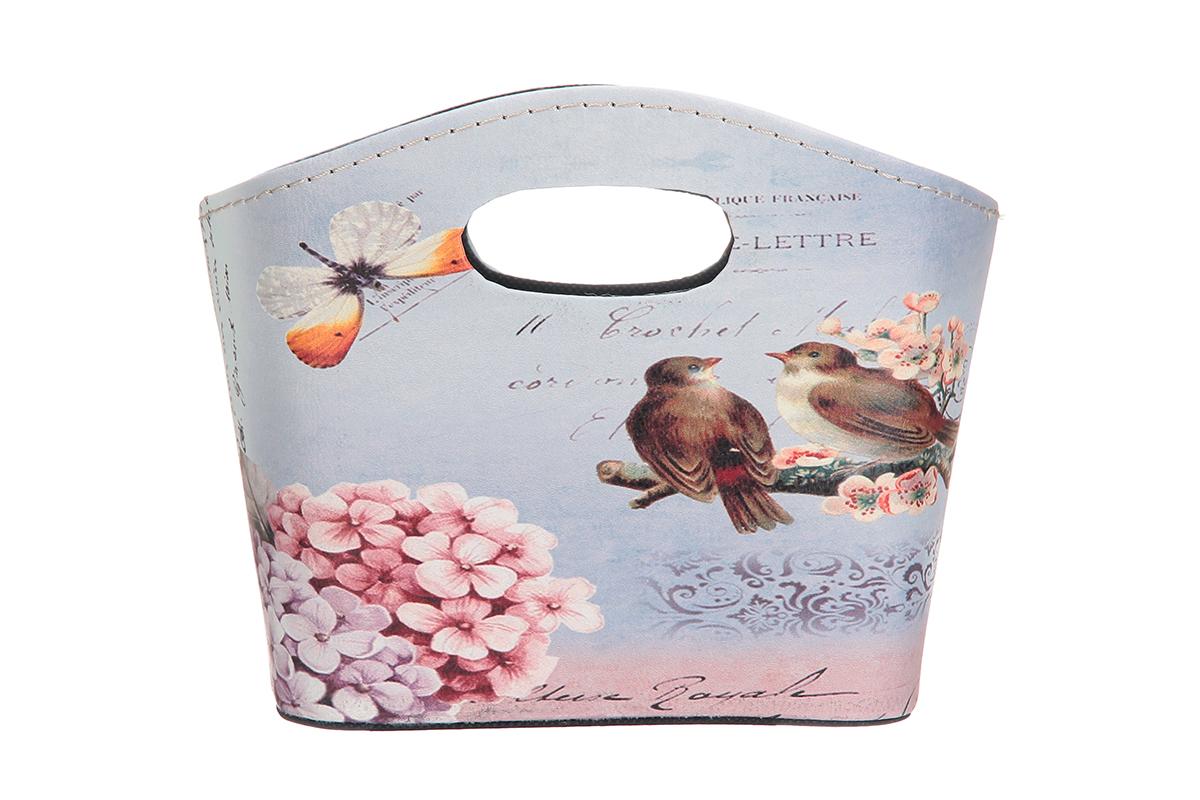 Сумка для хранения El Casa Сирень и птички, 20 х 11 х 16 см171504Интерьерная сумка El Casa Сирень и птички, выполненная в винтажном стиле, будто специально предназначена для хранения любовных писем и любых других дорогих сердцу вещей. Благодаря прекрасному дизайну и необычной форме будет отлично смотреться в вашей гостиной или коридоре.Сумка El Casa Сирень и птички станет отличным подарком для ваших друзей и близких.