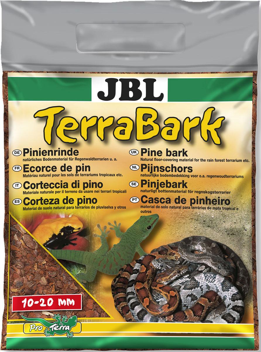 Донный субстрат из коры пинии JBL TerraBark, гранулы 10-20 мм, 20 л буковая щепа jbl натуральный донный субстрат terrawood для сухих и полусухих террариумов 20л