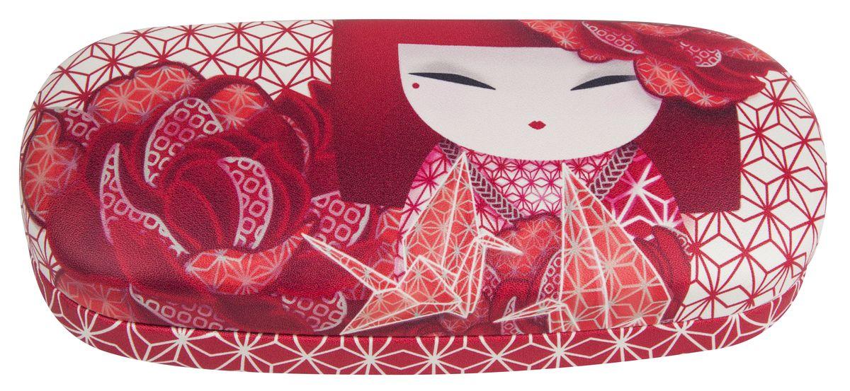 Футляр для очков женский Kimmidoll, цвет: красный. KF1112 proffi home футляр для очков fabia monti цвет бордовый