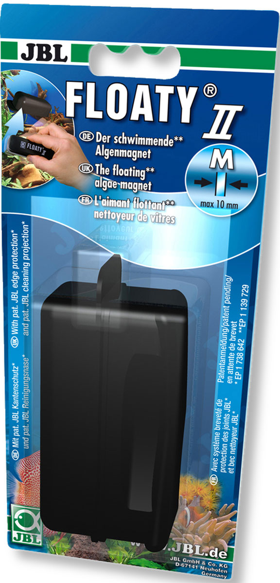 Скребок для аквариума JBL Floaty M для стекол толщиной до 10 мм