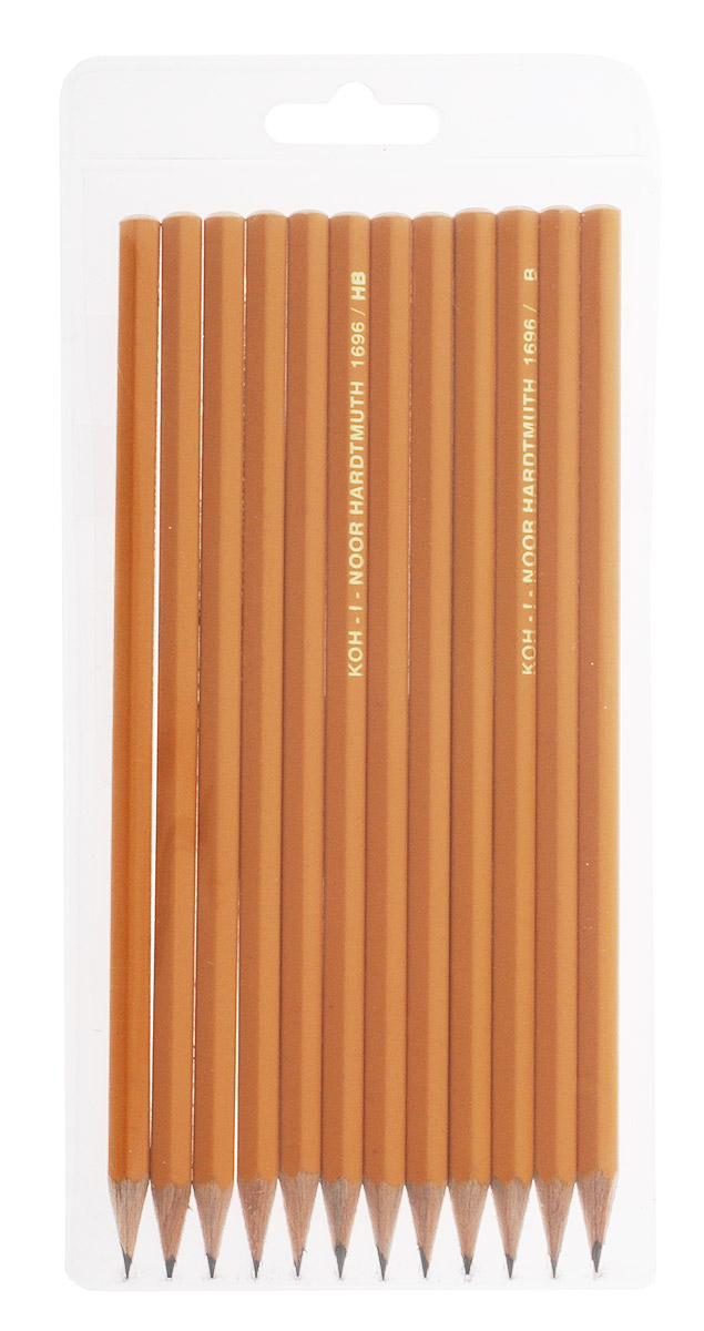 Koh-i-Noor Набор чернографитовых карандашей 12 штук023017Набор Koh-i-Noor содержит 12 чернографитовых карандашей средней твердости и предназначен дляпрофессионалов. В набор входят карандаши с графитовым стержнем различной твердости: B, 2B, HB, H, 2H.Они изготовлены из лучших пород дерева и имеют шестигранный корпус. С карандашами торговой марки Koh-i-Noor вы всегда можете быть уверены в качестве графических работ.