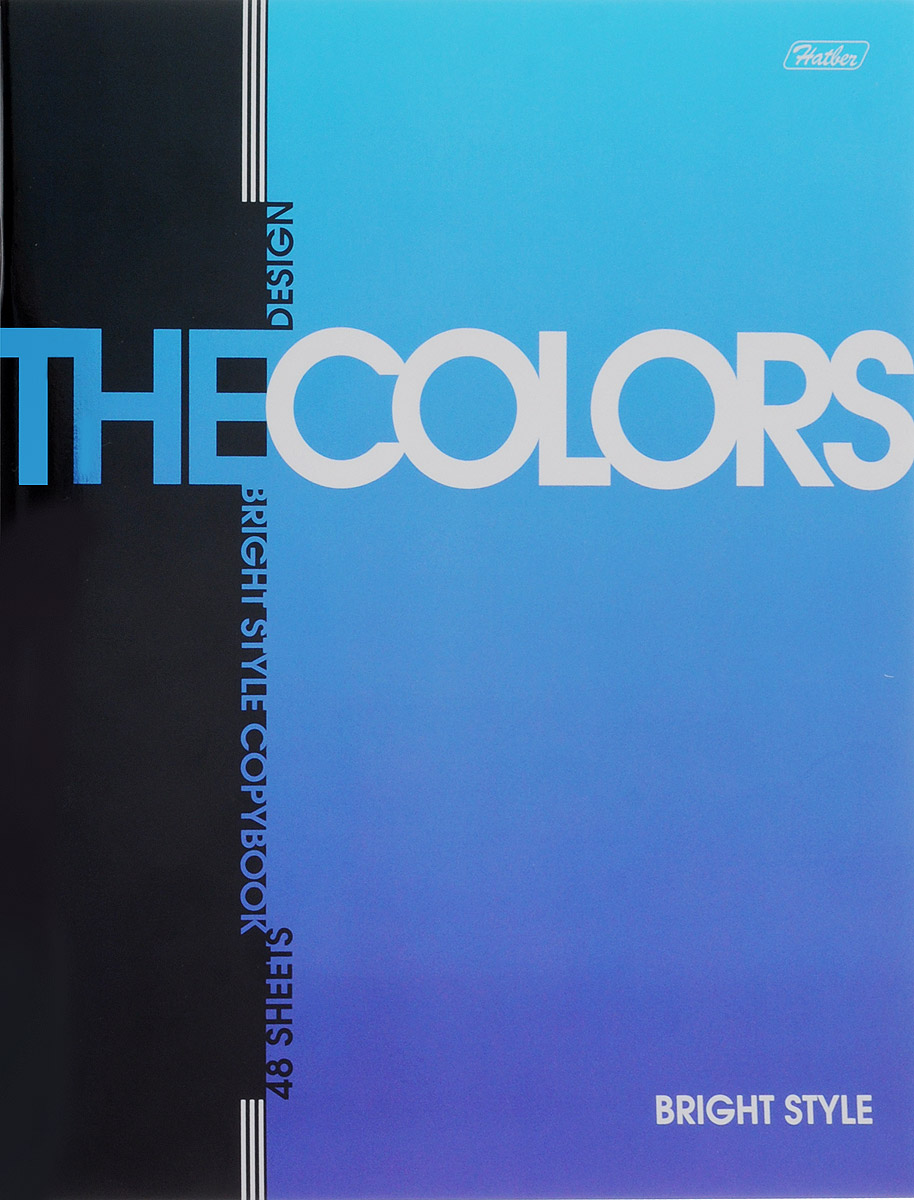 Hatber Тетрадь The Colors 48 листов в клетку цвет синий48Т5мтВ1_14480_Тетрадь Hatber из серии The Colors отлично подойдет для занятий школьнику,студенту или для различных записей.Обложка, выполненная из плотногометаллизированного картона украшена изображением английских букв. Внутренний блок тетради, соединенный металлическими скрепками, состоит из 48 листов белой бумаги вголубую клетку с полями.