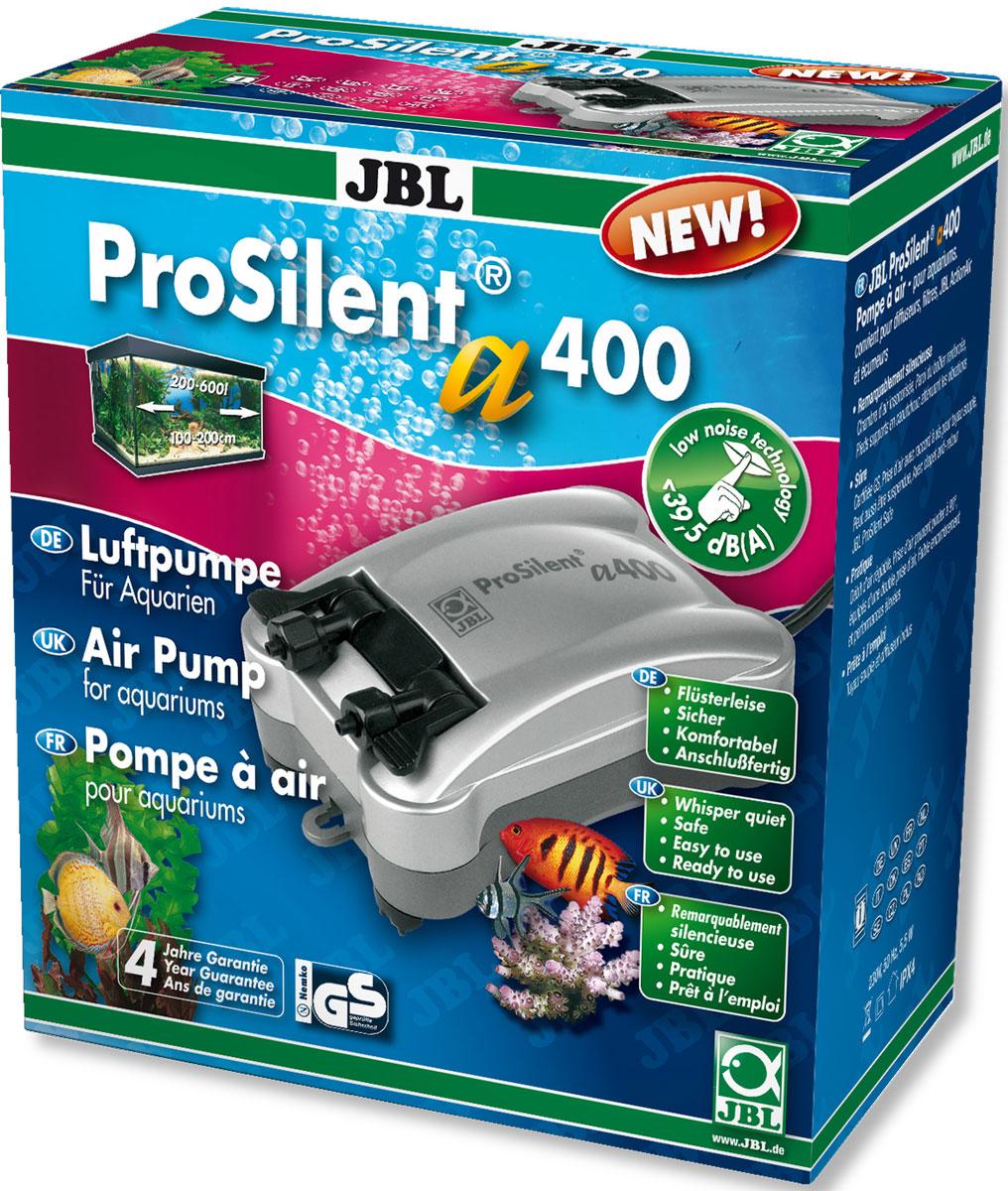 Компрессор двухканальный JBL ProSilent, для аквариума 200-600 л, 400 л/ч