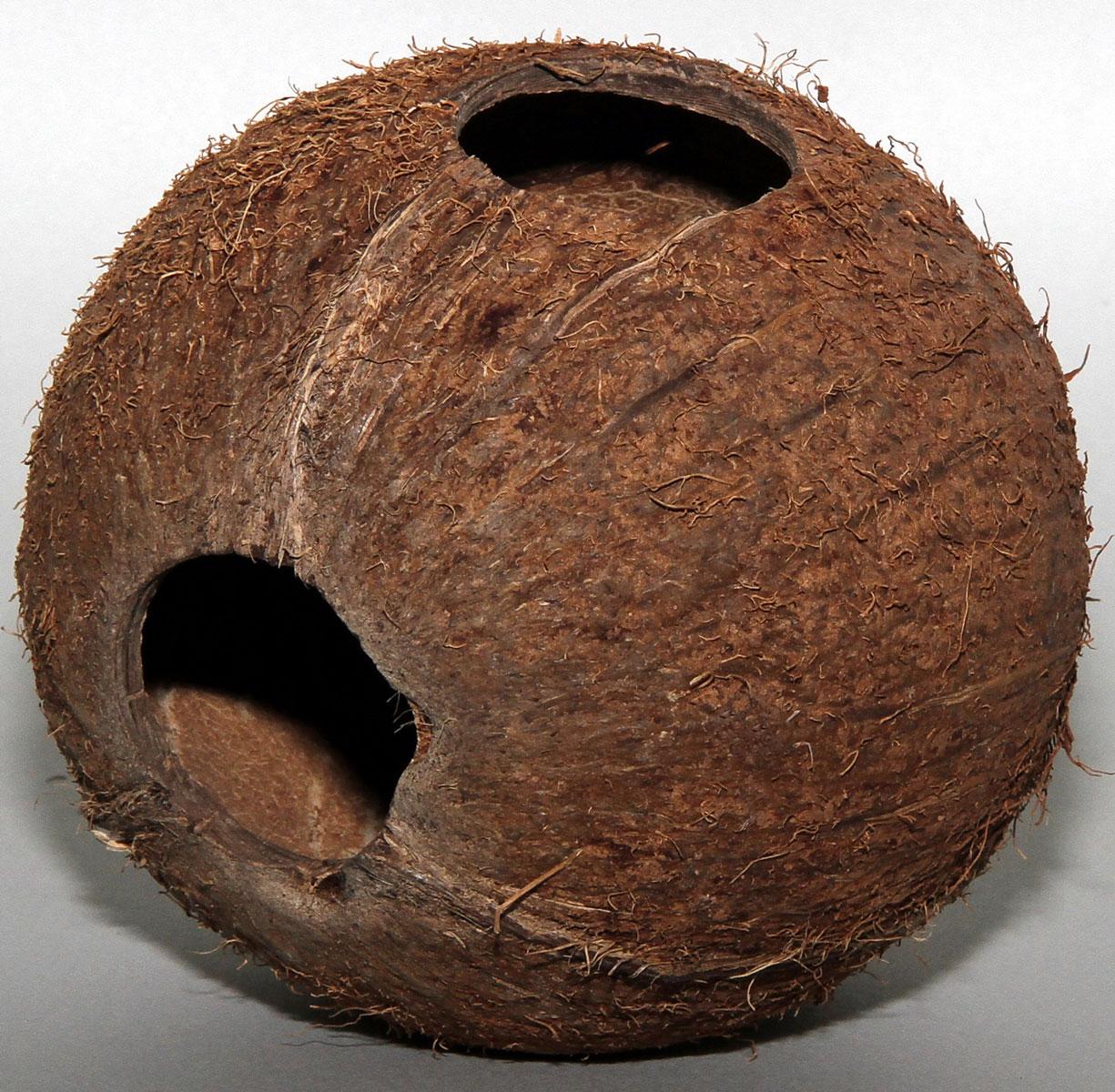 Пещера декоративная для аквариума JBL Cocos Cava, из кожуры кокоса, 12,5 х 13 х 12,5 см