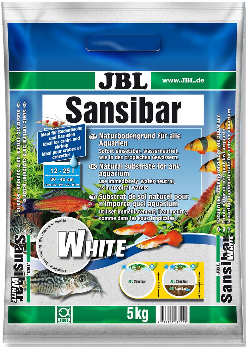 Грунт декоративный для аквариума JBL Sansibar мелкий цвет белый 5 кг