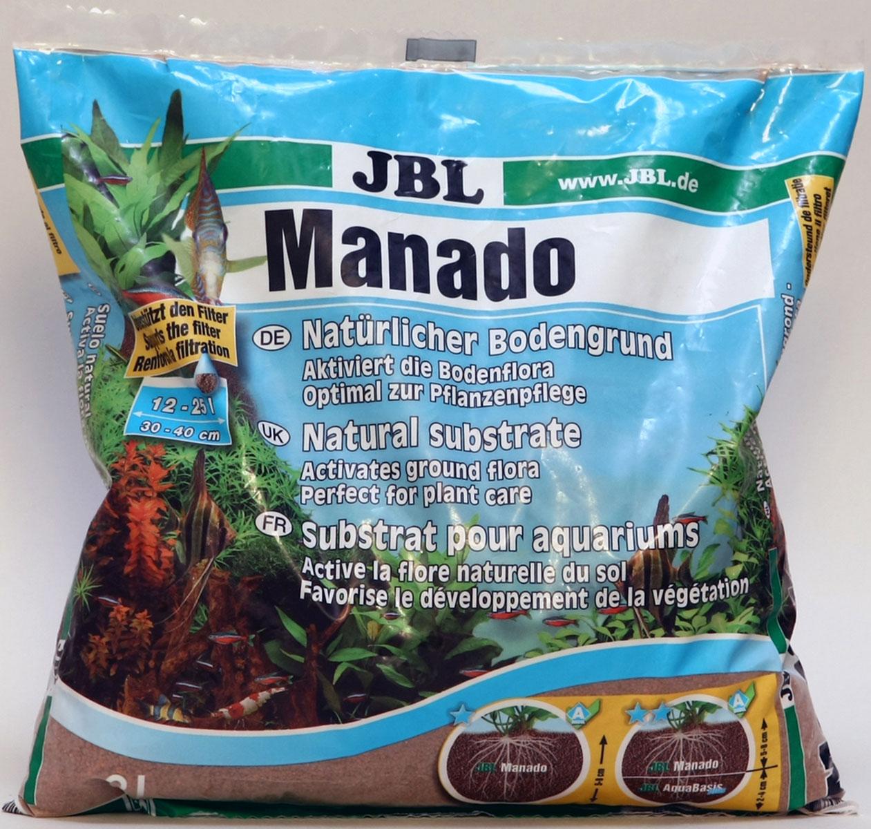 Грунт JBL Manado питательный цвет красно-коричневый 3 л