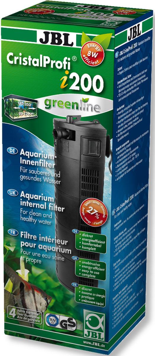 Фильтр для аквариума внутренний JBL CristalProfi i200 greenline, угловой, 130-200 л, 300-720 л/ч www барахолка аквариум 200 л в иваново