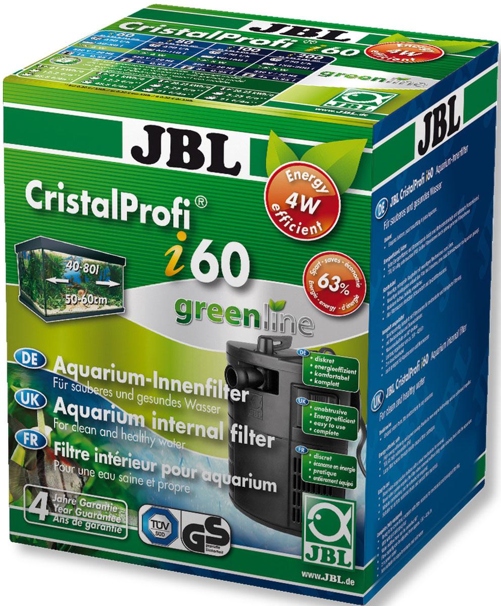 Фильтр для аквариума внутренний JBL CristalProfi i60 greenline, угловой, 40-80 л, 150-420 л/ч фильтр для аквариума sea star hx 1480f2 внутренний 35w 2800 л ч