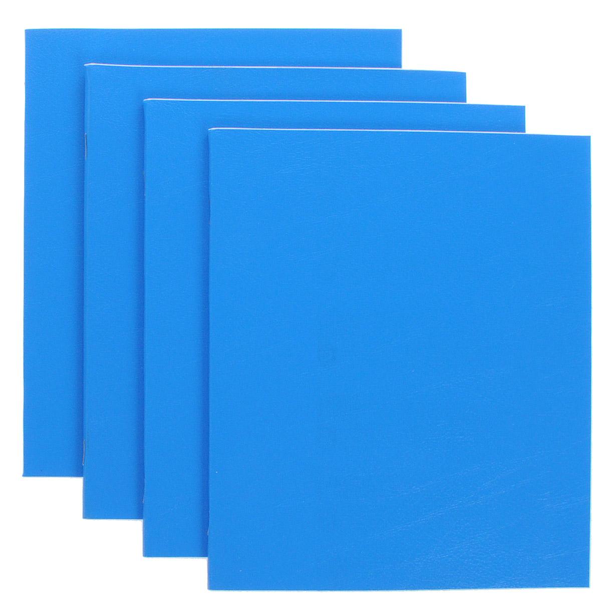 Action! Набор тетрадей Sponsor 48 листов в клетку 4 штSN-48-5/5/4_синийКомплект тетрадей Action! Sponsor включает в себя 4 тетради.Обложка каждой тетради изготовлена из бумвинила. Внутренний блок состоит из 48 листов белой бумаги, соединенных скрепками. Стандартная линовка в голубую клетку дополнена полями, совпадающими с лицевой и оборотной стороны листа.