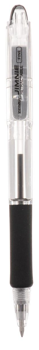 Zebra Ручка шариковая Jimnie Retractable 0,7 мм цвет чернил черный305 113011Автоматическая шариковая ручка Zebra Jimnie Retractable станет незаменимыми атрибутом для учебы или работы.Тщательно продуманный эргономичный дизайн, каучуковая подушка для пальцев, пишущий шарик нового поколения, большой пластиковый зажим - ко всем этим достоинствам ручки Jimnie Classic добавляется удобство и функциональность автоматической ручки.Надежная ручка строгого классического дизайна станет верным помощником для студента и офисного работника.
