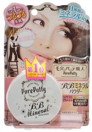 Sana Pore Putty Bb Mineral Powder Пудра компактная минеральная, SPF 35 пудры sana пудра компактная для лица 1 spf 50