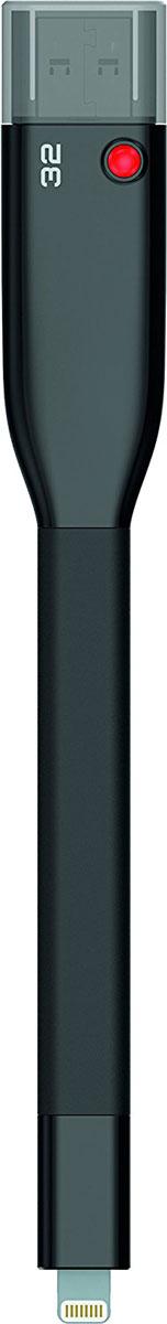 Emtec iCobra 32GB, Black USB-накопительECMMD32GT503V2BФлеш-накопители Emtec iCobra позволяют заряжать устройства Apple, а также защитить ваши личные данные и многое другое!Вы также сможете быстро передать нужные файлы на iCobra, тем самым освободив место на iPhone или IPad; воспроизводить фильмы и музыку с накопителя на мобильном устройстве; резервное копировать или обмениваться файлами между вашим iPhone, IPad или Mac/PC; хранить видео- или фотоальбомы на iCobra, если память вашего iPhone заполнена.Благодаря Emtec Connect AP все ваши файлы могут быть разделены по группам, например файлы, полученные через MMS, по электронной почте или через социальные сети. Два тонких разъемы совместимы с любым слотом, а гибкий кабель не мешает в использовании устройства.Совместимые ОС: Windows 10, 8, 7, Vista, XP, Me, 2000 / Mac OS X / Linux 2.6x