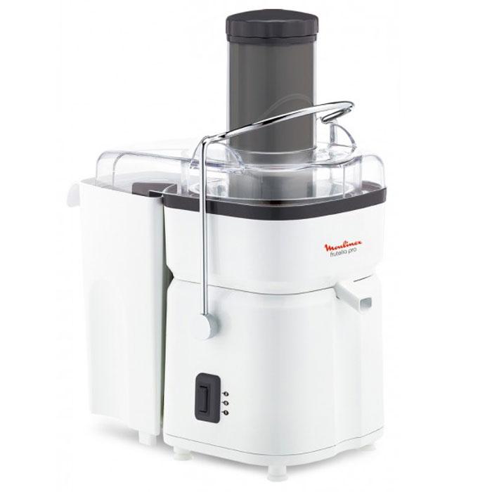 Moulinex JU450139 соковыжималка1500637063Преимущество соковыжималки Moulinex JU450139 состоит в высокой мощности 700 Вт, а также большой воронке для овощей и фруктов. Благодаря этим особенностям, а также объемному контейнеру для мякоти, у вас будет возможность быстро и беспрерывно выжать большое количество свежего сока. Прибор имеет две скорости вращения, что позволит получать сок как из мягких, так и из твердых фруктов.Ширина загрузочного отверстия: 72 мм Сепаратор для пены Автоматический выброс мякоти Система прямой подачи сока