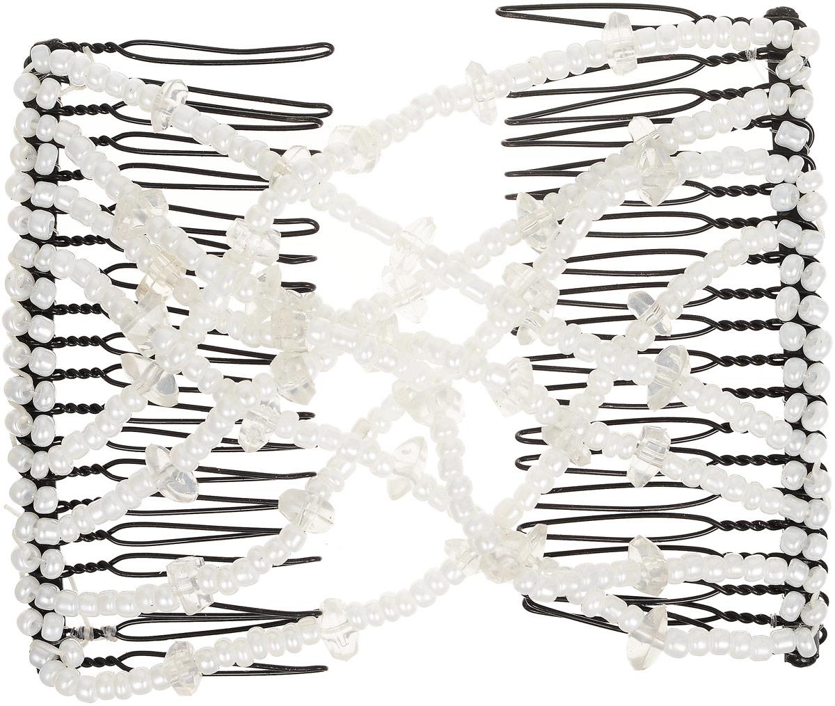 EZ-Combs Заколка Изи-Комбс, одинарная, цвет: белый. ЗИО_осколкиЗИО_белый/осколкиУдобная и практичная EZ-Combs подходит для любого типа волос: тонких, жестких, вьющихся или прямых, и не наносит им никакого вреда. Заколка не мешает движениям головы и не создает дискомфорта, когда вы отдыхаете или управляете автомобилем. Каждый гребень имеет по 20 зубьев для надежной фиксации заколки на волосах! И даже во время бега и интенсивных тренировок в спортзале EZ-Combs не падает; она прочно фиксирует прическу, сохраняя укладку в первозданном виде.Небольшая и легкая заколка для волос EZ-Combs поместится в любой дамской сумочке, позволяя быстро и без особых усилий создавать неповторимые прически там, где вам это удобно. Гребень прекрасно сочетается с любой одеждой: будь это классический или спортивный стиль, завершая гармоничный облик современной леди. И неважно, какой образ жизни вы ведете, если у вас есть EZ-Combs, вы всегда будете выглядеть потрясающе.