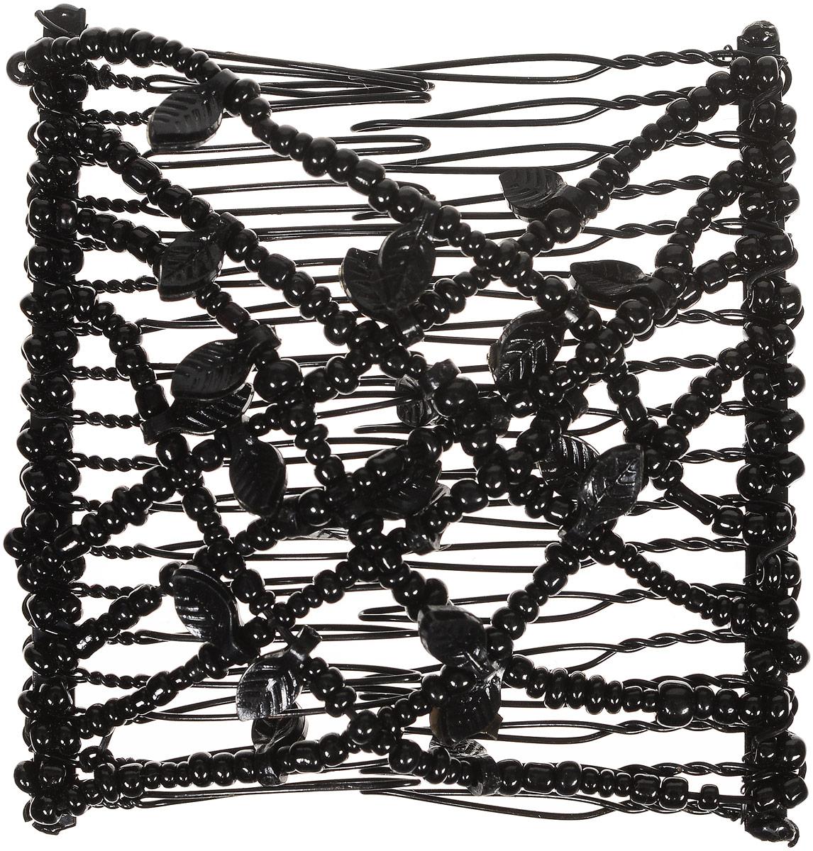 EZ-Combs Заколка Изи-Комбс, одинарная, цвет: черный. ЗИО_лист ez combs заколка изи комбс одинарная цвет коричневый зио цветок с серебром