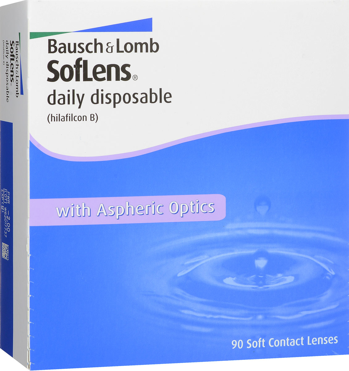 Bausch + Lomb контактные линзы Soflens Daily Disposable (90шт / 8.6 / -2.00)