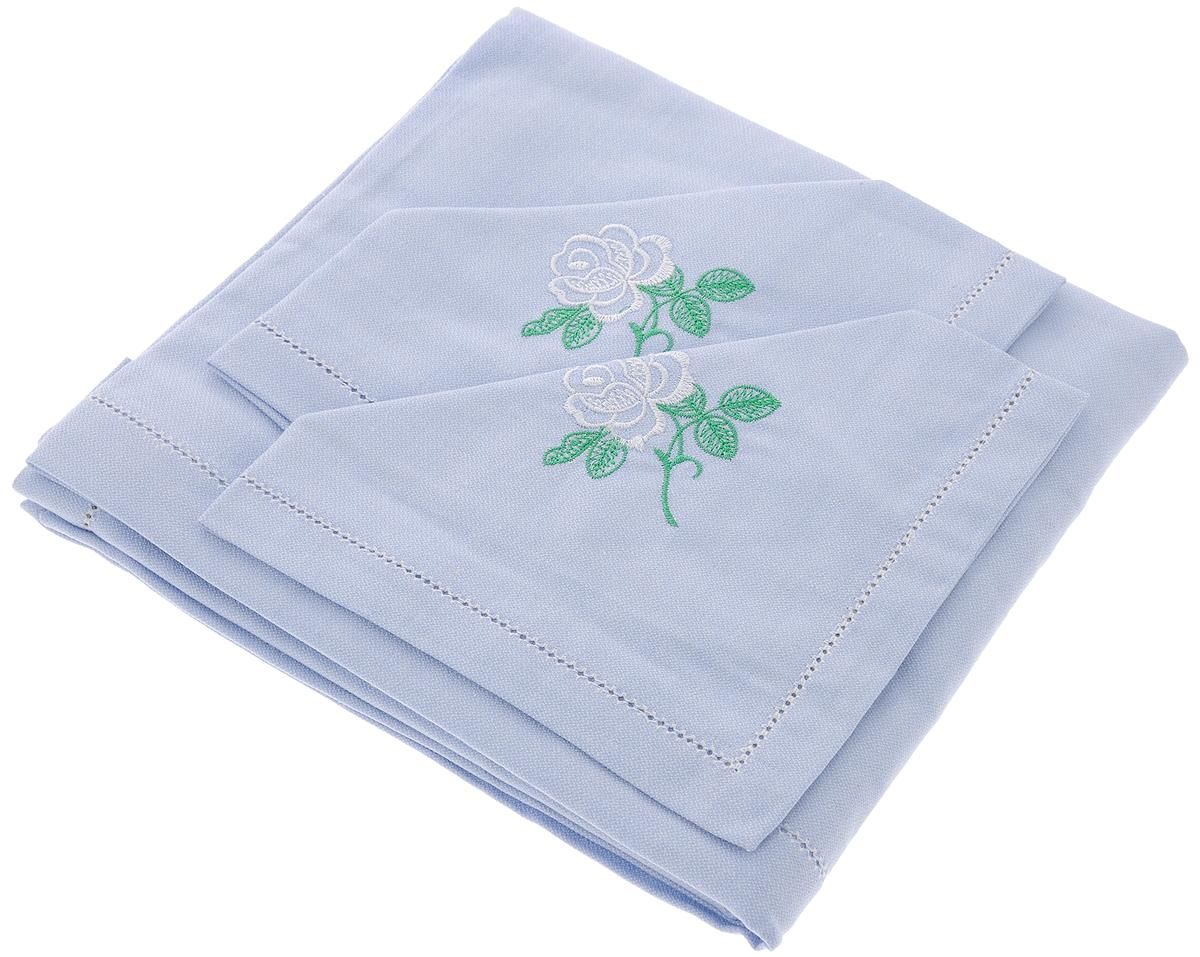 Комплект столовый Гаврилов-Ямский Лен, 5 предметов1со6756Элегантный столовый комплект Гаврилов-Ямский Лен, выполненный из хлопка с вышивкой, состоит из скатерти и четырех салфеток.Хлопок представляет собой натуральное волокно, которое получают из созревших плодов такого растения как хлопчатник. Качество хлопка зависит от длины волокна – чем длиннее волокно, тем ткань лучше и качественней.Столовый комплект Гаврилов-Ямский Лен придаст вашему дому уют и тепло. Размер скатерти: 100 х 100 см.Размер салфетки: 35 х 35 см.