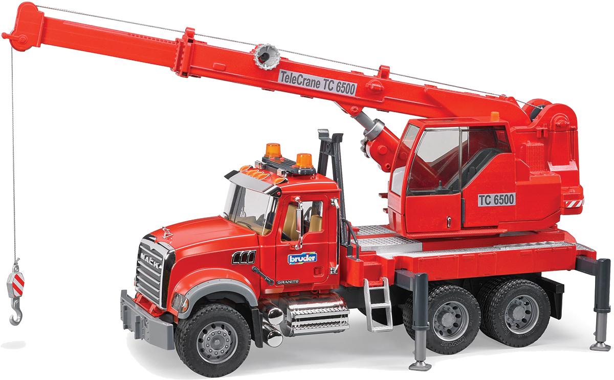 Bruder Автокран Mack цвет красный bruder пожарная машина mack