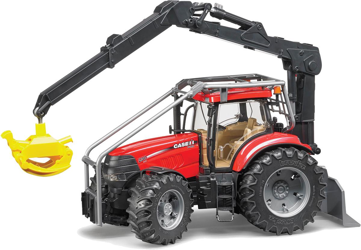 Bruder Трактор Case CVX 230 с захватом для бревен bruder машины купить
