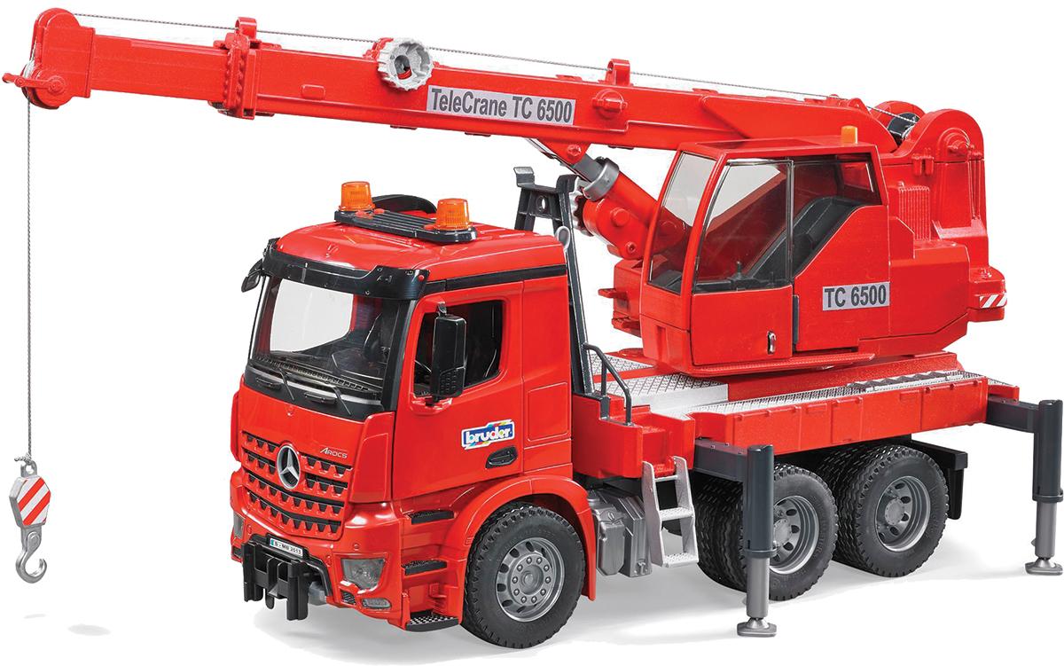 Bruder Автокран MB Arocs цвет красный игрушка pilotage mb arocs мусоровоз 1 20 rc47816
