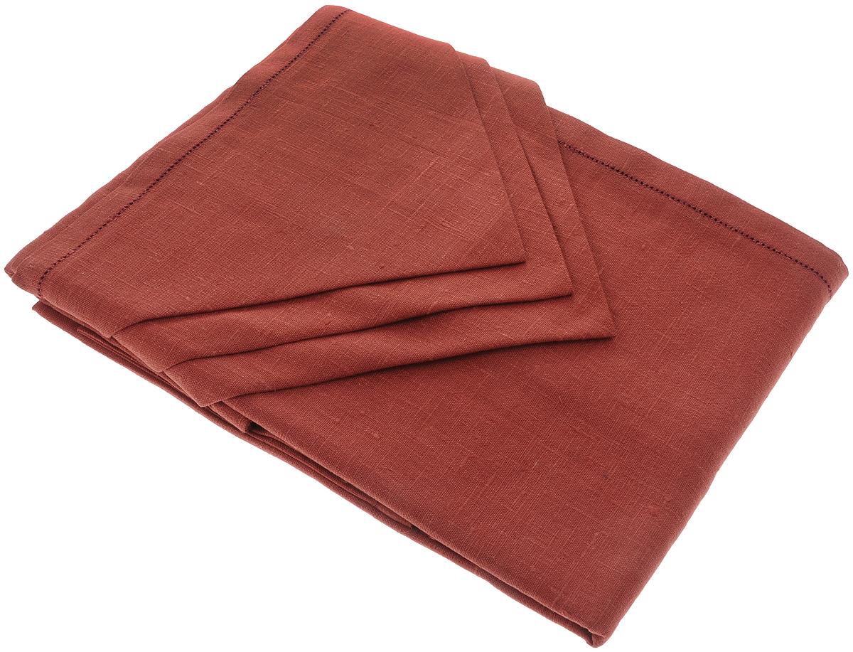 Комплект столовый Гаврилов-Ямский Лен, цвет: бордовый, 7 предметов10со6861-2Столовый комплект Гаврилов-Ямский Лен, выполненный из 100% льна, состоит из скатерти и шести салфеток.Лён - поистине, уникальный экологически чистый материал. Изделия из льна обладают уникальными потребительскими свойствами. Такой комплект порадует вас невероятно долгим сроком службы.Столовый комплект Гаврилов-Ямский Лен придаст вашему дому уют и тепло. Размер скатерти: 140 х 180 см.Размер салфетки: 42 х 42 см.