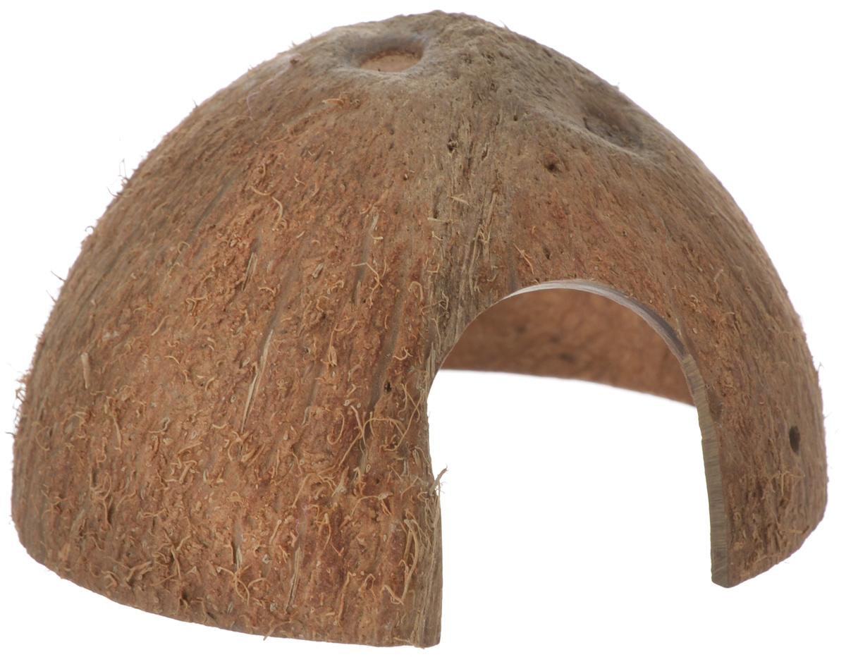 Пещера декоративная для аквариума JBL Cocos Cava, из кожуры кокоса, 9,5 х 9,5 х 6 смJBL6151100Декоративная пещера JBL Cocos Cava - это идеальное место для нереста и укрытия рыб. Пещера станет оригинальным украшением для вашего аквариума. Обитатели террариума охотно используют эту натуральную пещеру в качестве места для сна и укрытия. Изделие изготовлено из натурального материала без ядовитых веществ.Размер кожуры: 9,5 х 9,5 х 6 см.Размер отверстия: 3,5 х 4 см.