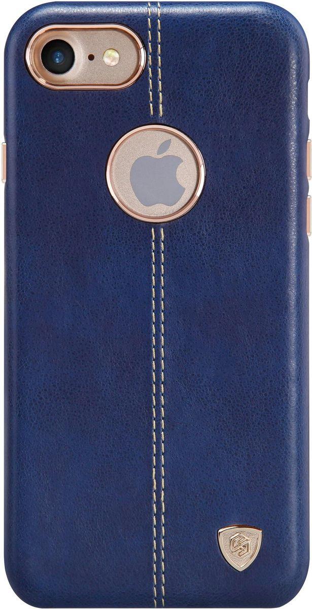 Nillkin Englon Leather Cover чехол для Apple iPhone 7/8, Blue2000000100265Чехол Nillkin Englon для Apple iPhone 7 надежно защищает ваш смартфон от внешних воздействий, грязи, пыли, брызг. Он также поможет при ударах и падениях, не позволив образоваться на корпусе царапинам и потертостям. Внутри чехла встроена магнитная площадка для крепления к магнитным держателям. Чехол обеспечивает свободный доступ ко всем функциональным кнопкам смартфона и камере.