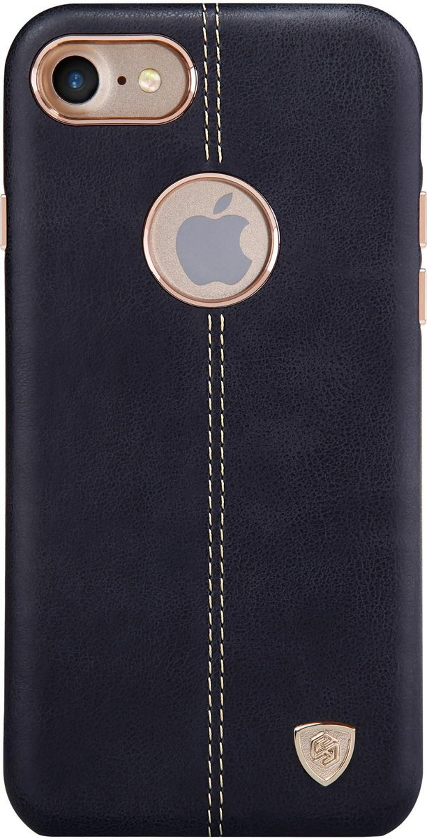 Nillkin Englon Leather Cover чехол для Apple iPhone 7/8, Black2000000100272Чехол Nillkin Englon для Apple iPhone 7 надежно защищает ваш смартфон от внешних воздействий, грязи, пыли, брызг. Он также поможет при ударах и падениях, не позволив образоваться на корпусе царапинам и потертостям. Внутри чехла встроена магнитная площадка для крепления к магнитным держателям. Чехол обеспечивает свободный доступ ко всем функциональным кнопкам смартфона и камере.
