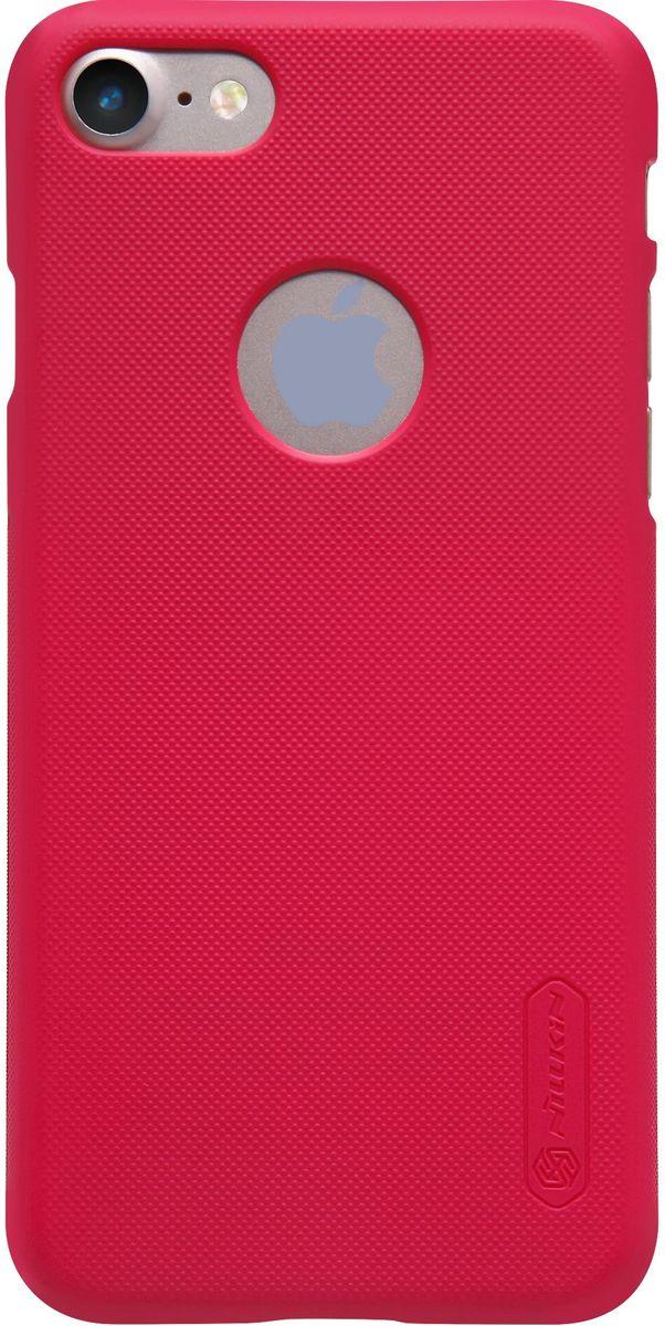 Nillkin Super Frosted Shield чехол для Apple iPhone 7, Red2000000100418Чехол Nillkin Super Frosted Shield для Apple iPhone 7 разработан специально для данной модели телефона и обеспечивает доступ ко всем кнопкам и портам. Он надежно защищает ваш смартфон от внешних воздействий, грязи, пыли, брызг, также поможет при ударах и падениях, не позволив образоваться на корпусе царапинам и потертостям. Задняя сторонка чехла изготовлена из шершавого пластика, который не даст телефону выскользнуть из рук.